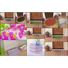Deals, Discounts & Offers on Home Decor & Festive Needs - Homezaara combo of Double Bedsheet with 10 doormat & 12 Face towel @ Rs.519