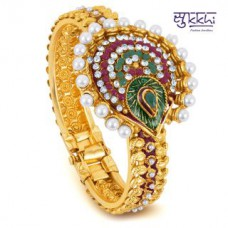 Deals, Discounts & Offers on Women - Sukkhi Gold Plated Multi Color Stone Flexible Kada