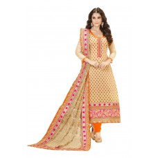 Deals, Discounts & Offers on Women Clothing - DivyaEmporio Semi-stitched Salwar Suit Dupatta