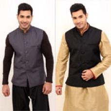 Deals, Discounts & Offers on Men Clothing - Rico Sordi PO2 Sleeveless Bandhgala Jacket