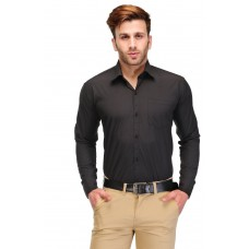 Deals, Discounts & Offers on Men Clothing - Formals by Koolpals-Cotton Blend Shirt Black Solid