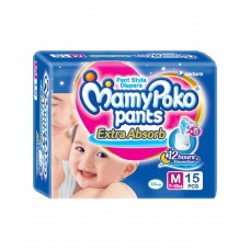 Deals, Discounts & Offers on Baby Care - Mamypoko Pants Baby Diaper Medium 15 Pcs