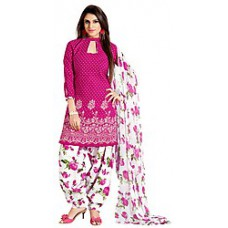 Deals, Discounts & Offers on Women Clothing - Shonaya Pink Embroidered Women Unstitched Casual Suit