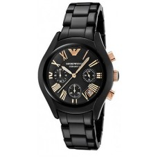 Deals, Discounts & Offers on Women - Emporio Armani AR 1411 Ceramica Chronograph Watch for Women's