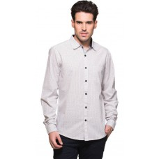 Deals, Discounts & Offers on Men Clothing - Zovi White Cotton Slim Fit Casual Shirt