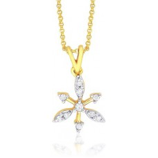 Deals, Discounts & Offers on Earings and Necklace - Sangini Designer 14K Yellow Gold 14K Diamond Gold Pendant
