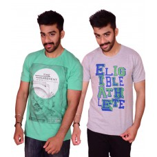 Deals, Discounts & Offers on Men Clothing - Cotton Round Neck Printed T-Shirt