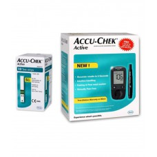 Deals, Discounts & Offers on Personal Care Appliances - Accu-Chek Active Glucose Monitor with 10 Test Strips