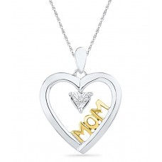 Deals, Discounts & Offers on Earings and Necklace - Caratlane Eros Heart 92.5 Silver Certified, Real Diamond Pendant