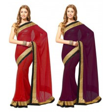 Deals, Discounts & Offers on Women Clothing - Sukuma Designer 2pc Saree Combo