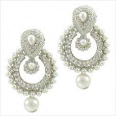 Deals, Discounts & Offers on Earings and Necklace - Sparkling White Pearl Earring With Stone