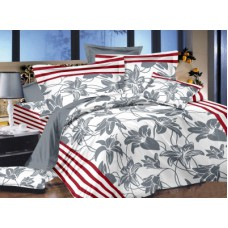 Deals, Discounts & Offers on Home Appliances - Ahmedabad Cotton Satin Floral Double Bedsheet