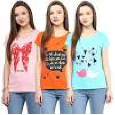 Deals, Discounts & Offers on Women Clothing - Honey by Pantaloons Women's_Pack of 3 _T-Shirt