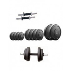 Deals, Discounts & Offers on Personal Care Appliances - Facto Power Home Gym 30 Kg. Rubber Weight Plates + Dumbell Rods Pair With Grip