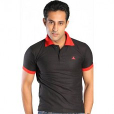 Deals, Discounts & Offers on Men Clothing - Globalite Black Polyester Polo Tshirt for Men