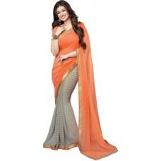 Deals, Discounts & Offers on Women Clothing - ARYA FASHION Self Design Bollywood Georgette Sari