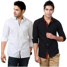 Deals, Discounts & Offers on Men Clothing - Flat 74% off on Suspense Men's Solid Casual Shirt