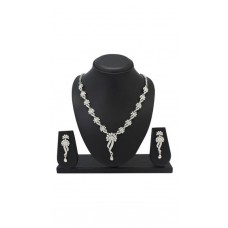 Deals, Discounts & Offers on Earings and Necklace - Atasi International Silver Necklace Set