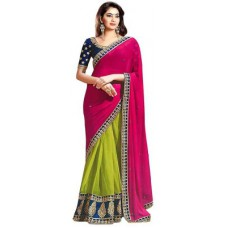 Deals, Discounts & Offers on Women Clothing - H.P.D Embriodered Fashion Chiffon Sari
