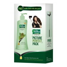 Deals, Discounts & Offers on Health & Personal Care - Dabur Vatika Oil Balance Smoothening Treatment Shampoo, 340ml with Free Selfie Stick