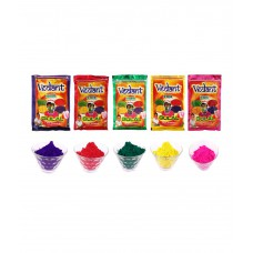 Deals, Discounts & Offers on Home Decor & Festive Needs - Vedant Holi 5 Packs Herbal Gulal- 100g Each