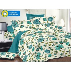Deals, Discounts & Offers on Home Appliances - Flat 76% off on Ahmedabad Cotton Satin Floral Double Bedsheet
