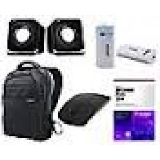 Deals, Discounts & Offers on Electronics - Samsung Backpack With Mcafee Antivirus, Terabyte Speaker, Intex Powerbank 4000mah, Wireless Mouse - Combo