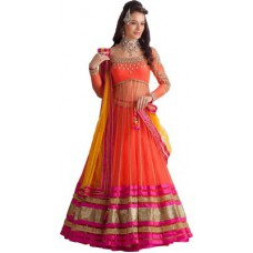 Deals, Discounts & Offers on Women Clothing - Aayna Embroidered Women's Lehenga, Choli and Dupatta Set