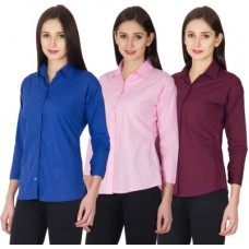 Deals, Discounts & Offers on Women Clothing - Vestire Women's Solid Casual Shirt