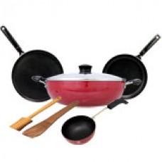 Deals, Discounts & Offers on Home Appliances - Chef Master 5 piece Non-Stick Cookware Set
