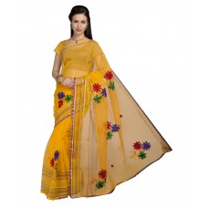 Deals, Discounts & Offers on Women Clothing - Flat 47% off on Aisha Yellow Tissue Saree