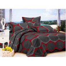 Deals, Discounts & Offers on Home Appliances - Carah Exclusive Double Bedsheet With Two Pillow Covers
