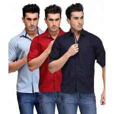 Deals, Discounts & Offers on Men Clothing - Tsx Multicolor Casual Shirt - Pack Of 3