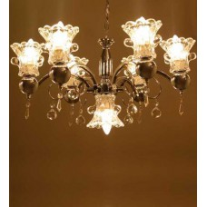 Deals, Discounts & Offers on Home Appliances - Aesthetics Home Solution Contemporary Chrome Finished Aluminium Chandelier