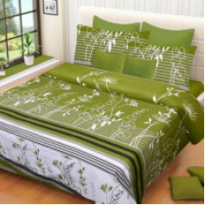 Deals, Discounts & Offers on Home Appliances - IWS Cotton Printed Double Bedsheet