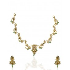 Deals, Discounts & Offers on Earings and Necklace - Anuradha Art Maharashtrian Pearls Jewellery Sets