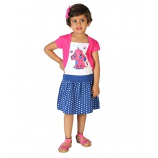 Deals, Discounts & Offers on Kid's Clothing - Lil Orchids Pink Cotton Girls Printed Casual Dress