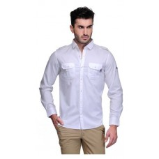 Deals, Discounts & Offers on Men Clothing - Canary London White Cotton Slim Fit Casual Shirt