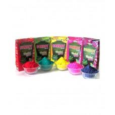 Deals, Discounts & Offers on Home Decor & Festive Needs - Tota Holi Herbal 5 Pack Gulal Tota Holi Box- 100g Each