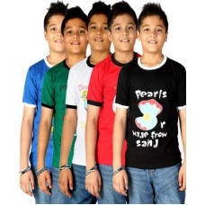 Deals, Discounts & Offers on Kid's Clothing - Gkidz Printed Boy's Round Neck T-Shirt