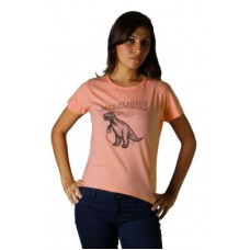 Deals, Discounts & Offers on Women Clothing - Tantra Womens Pizzasaurus - Tw Peach T-shirt