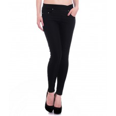 Deals, Discounts & Offers on Women Clothing - Hightide Black Cotton Lycra Jeggings