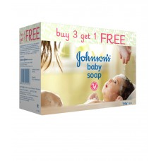 Deals, Discounts & Offers on Baby Care - Johnson's Baby Soap 150 g (3+1) pack at Flat 25% off + Free Shipping