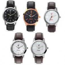 Deals, Discounts & Offers on Men - Flat 75% off on Rico Sordi Set of 5 Leather Watch