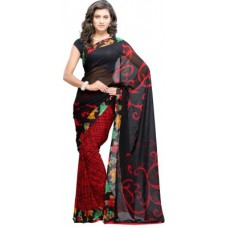 Deals, Discounts & Offers on Women Clothing - Fabdeal Printed Kosa Georgette Sari