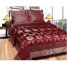 Deals, Discounts & Offers on Home Appliances - Excel Bazaar Cotton Silk Blend Floral Double Bedsheet