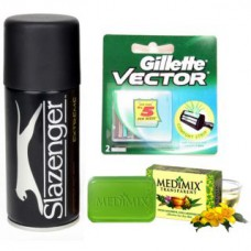 Deals, Discounts & Offers on Accessories - Slazenger Deodorant + Medimix Soap + Gillette vector blade