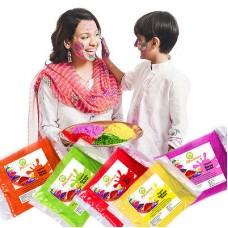 Deals, Discounts & Offers on Home Decor & Festive Needs - Joybynature Organic Holi Colors/ Gulal Pack of 5