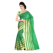 Deals, Discounts & Offers on Women Clothing - Indian Beauty Green Cotton Sari
