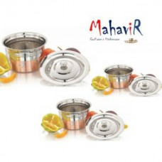 Deals, Discounts & Offers on Home Appliances - Mahavir Stainless Steel Baby Design Copper Cook & Serve Set
